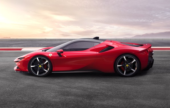 Картинка асфальт, Ferrari, спорткар, Stradale, SF90