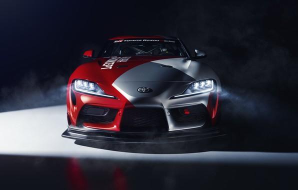 Картинка машина, свет, купе, concept, спорткар, Toyota, GT4, GR Supra