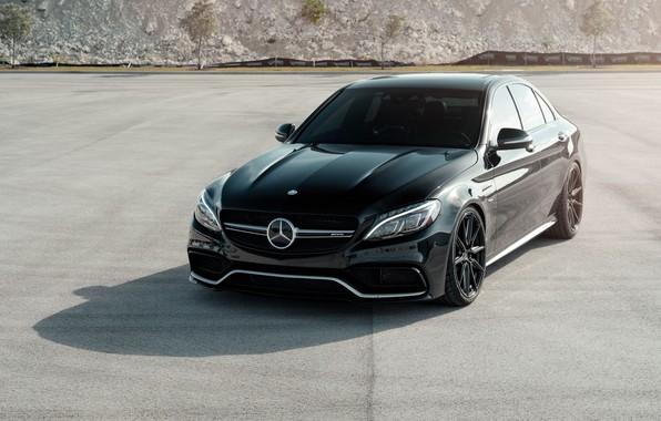 Картинка Mercedes, AMG, Black, C63, W205