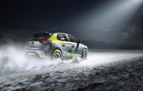 Картинка Опель, Opel, Corsa, 2020, electric rally car, Корса, раллийный электромобиль, Opel Corsa-e Rally