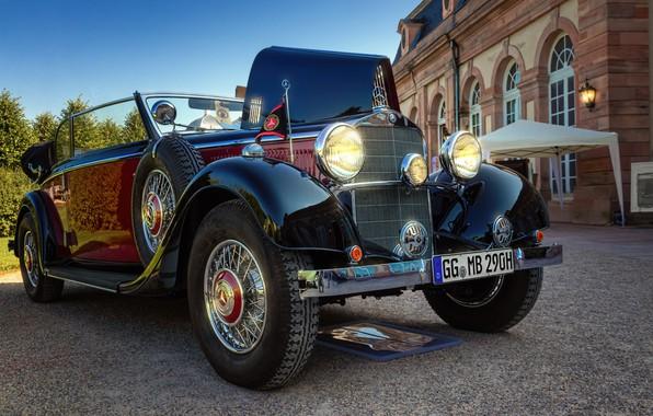 Картинка авто, ретро, фото, Mercedes-Benz, Cabriolet, Retro, 1936, 290 B