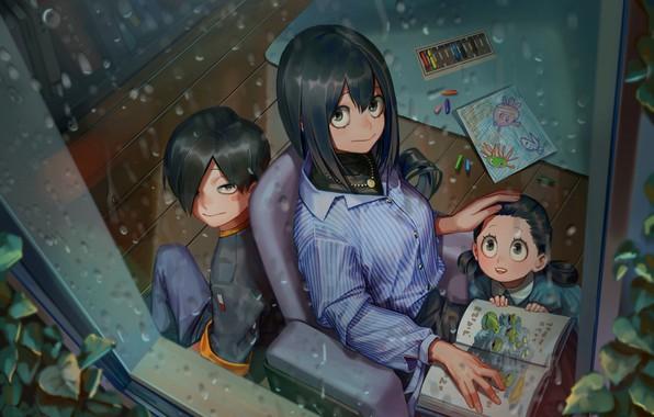 Картинка девушка, дети, My Hero Academia, Boku No Hero Academia, Моя Геройская Академия