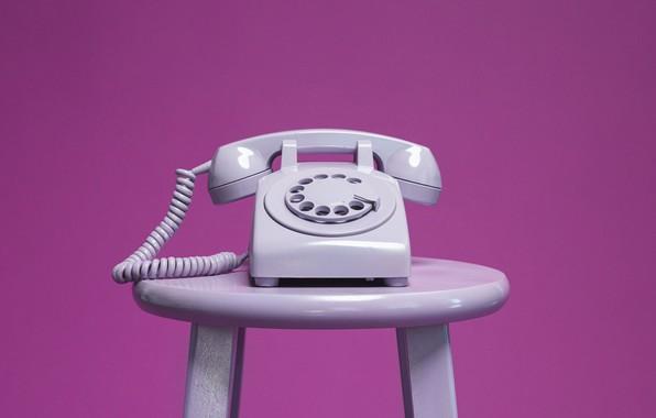 Картинка фон, телефон, стационарный, домашний, табурет