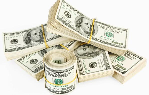 Картинка доллары, купюры, fon, dollars, резинка
