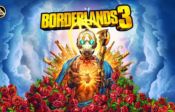 Картинка Guns, Borderlands, Vault, Psycho, Roses are Red, Borderlands 3, Mayhem is Coming, BL3, Vault Symbol