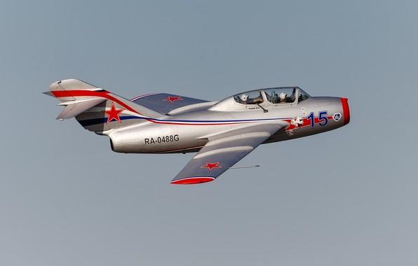 Картинка полёт, учебно-тренировочный, МиГ-15УТИ