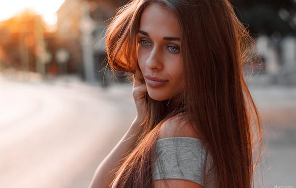 Картинка взгляд, девушка, фото, волосы, макияж, красивая, Dim Khokhlov