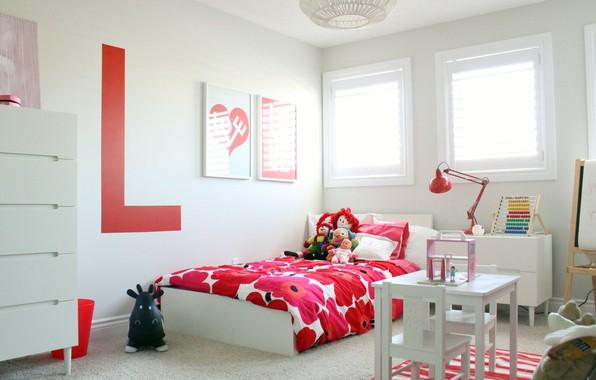 Картинка дизайн, игрушки, кровать, интерьер, детская комната