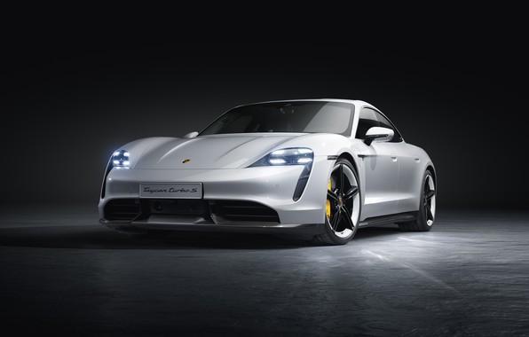 Картинка машина, Porsche, turbo s, Taycan
