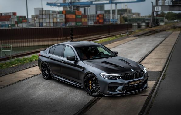 Картинка пути, рельсы, BMW, порт, седан, Biturbo, BMW M5, Manhart, M5, V8, F90, 2019, 4.4 л., …