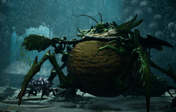 Картинка жук, game, толстяк, bug, Лень, Sloth, семь смертных грехов, Darksiders III, deadly sin, смертный грех
