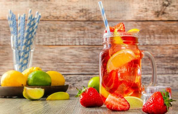 Картинка ягоды, напиток, лимонад