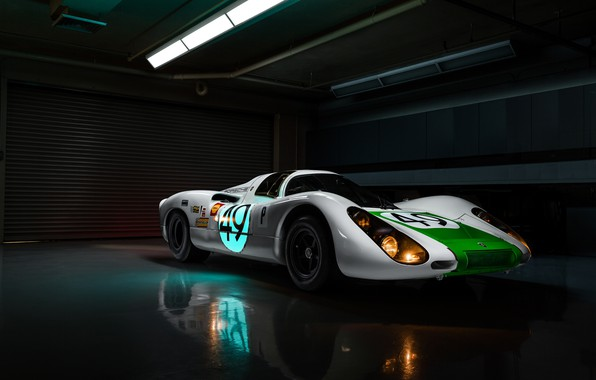 Картинка lights, Porsche, racing car, Jeremy Cliff, Porsche 907, 907