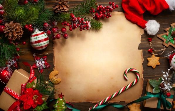 Картинка украшения, Новый Год, Рождество, подарки, Christmas, wood, New Year, decoration, gift box, Merry, fir tree, …