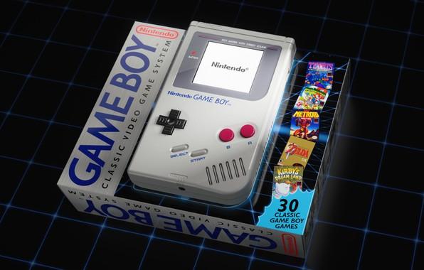 Картинка Игра, Ретро, Classic, Art, Nintendo, Рендеринг, Винтаж, by Oliver Harries, Oliver Harries, Game Boy Classic, ...
