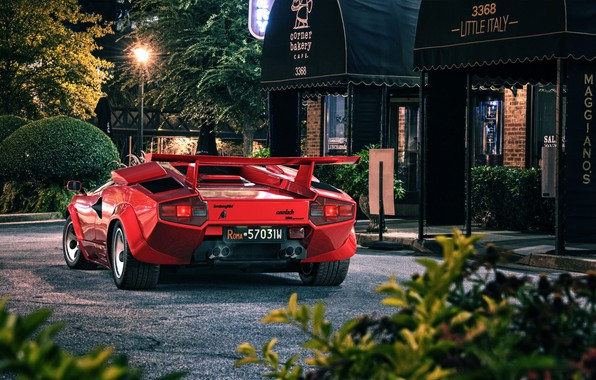 Картинка Авто, Lamborghini, Машина, Red, Car, Countach, Рендеринг, Retro, Supercar, Sportcar, Transport & Vehicles, Lamborghini Countach …