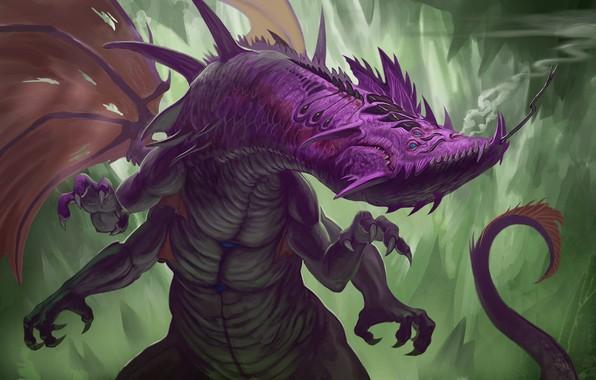 Картинка крылья, монстр, когти, клыки, чудовище, monster, wings, жало, sting, claws, fangs, fantastic animal, фантастическое животное, …