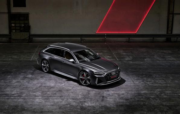Картинка Audi, сверху, универсал, RS 6, 2020, 2019, тёмно-серый, V8 Twin-Turbo, RS6 Avant