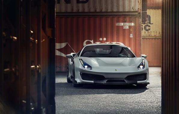 Картинка машина, Ferrari, спорткар, контейнеры, Novitec, 488, Pista