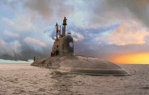 Картинка субмарина, ясень, проект 885, северодвинск