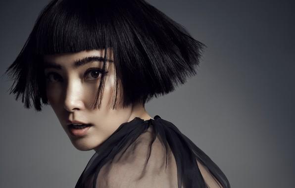 Картинка взгляд, поза, макияж, актриса, с короткой стрижкой, hair, look, pose, actress, makeup, Ли Бинбин, Li …