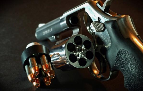 Картинка Gun, Revolver, Drum, Pistol, Cartridges