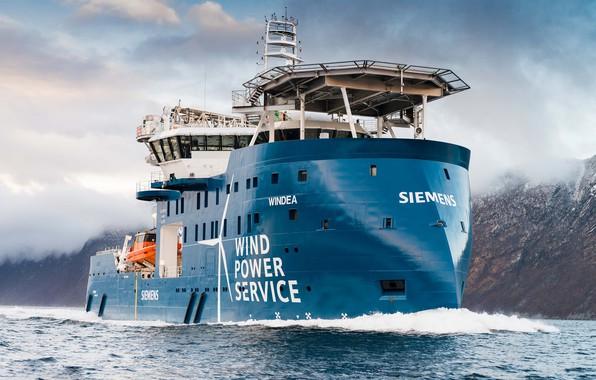 Фото обои Море, Горы, Судно, Бак, Offshore, Offshore Supply Ship, Supply Ship, M/V Windea, Windea Offshore, Service ...