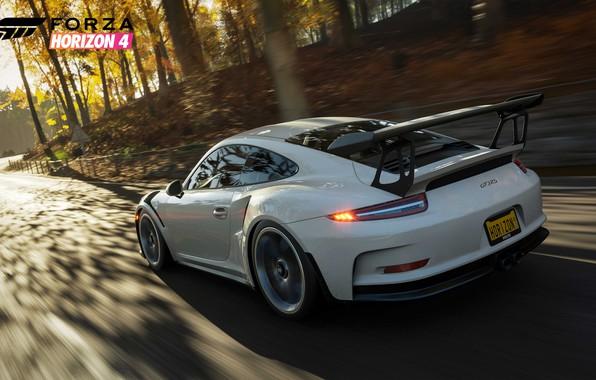 Картинка 911, Porsche, Microsoft, game, 2018, GT3 RS, Forza Horizon 4