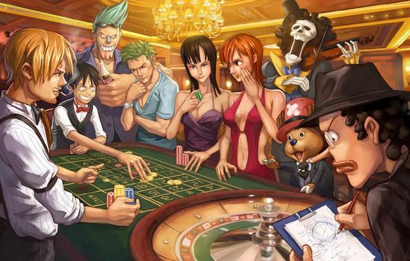 Картинка девушки, аниме, казино