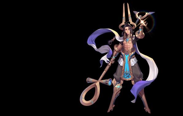 Картинка игра, фэнтези, арт, дизайн костюма, Purple Moon, SCI-FI ANUBIS
