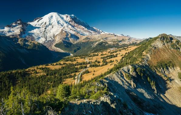 Картинка пейзаж, горы, панорама