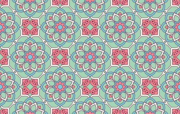 Картинка цветы, узор, текстура, орнамент, pattern, floral, seamless