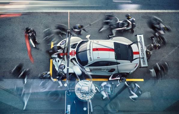 Картинка Porsche, Порше, мотоспорт, гоночный автомобиль, racing car, motorsports, 2019, Porsche 911 RSR
