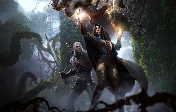 Картинка ведьмак, чародейка, Геральт, CD Projekt RED, The Witcher 3: Wild Hunt, Ведьмак 3: Дикая Охота, …