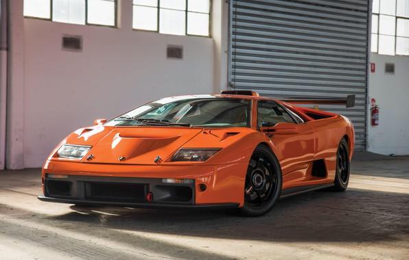 Картинка Orange, Classic, Supercar, Lamborghini Diablo GTR