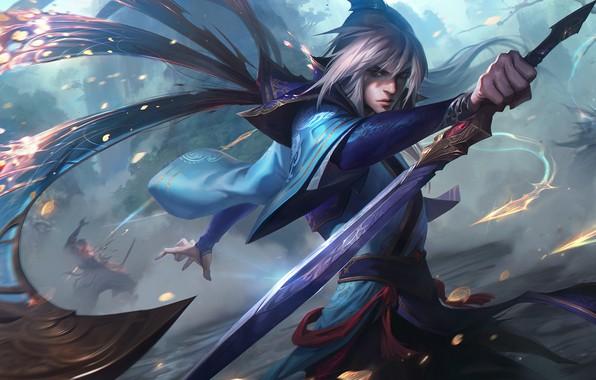 Картинка Аниме, Anime, Убийца, Assassin, League of Legends, LOL, Talon, Лига Легенд, ЛОЛ, Талон, Enduring Blade …