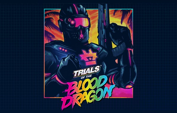 Картинка Музыка, Neon, Game, Blood Dragon, Trials, Synth, Retrowave, Synthwave, New Retro Wave, Futuresynth, Синтвейв, Ретровейв, …