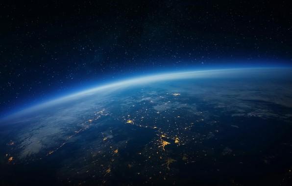 Картинка world, space, night