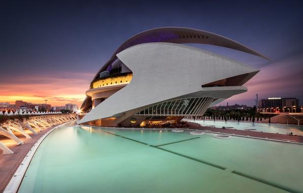 Картинка архитектура, Испания, комплекс, Валенсия, Город искусств и наук