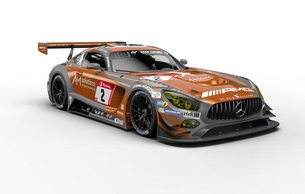 Картинка мотоспорт, Mercedes - Benz, гоночный автомобиль, racing car, Nurburgring, Нюрбургринг, Motorsports, Mercedes-AMG GT3, 2019, Мерседес …