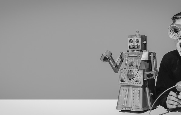 Картинка robot, retro, boy, retrofuture, ретрофутуризм