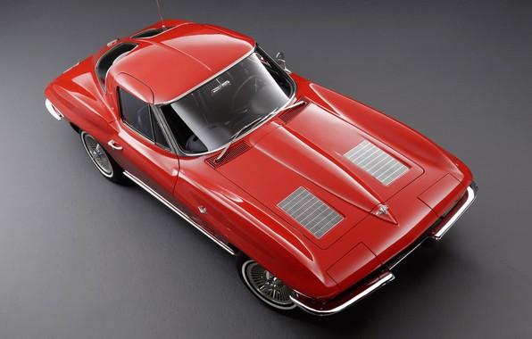 Картинка Corvette, Classic, 1963, Classic car, Sting Ray C2, Chevrolet Corvette C2, Chvroleet Corvette, Chevrolet Corvette ...