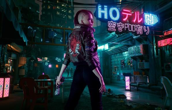 Картинка будущее, rpg, video game, night city, CD Projekt RED, Cyberpunk 2077
