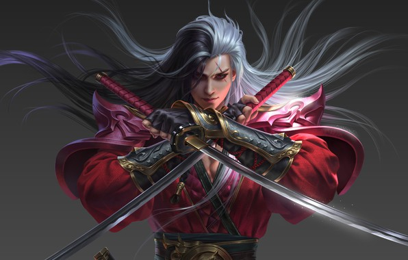Картинка оружие, игра, воин, фэнтези, арт, кинжалы, 一年前的工作, Yang chen