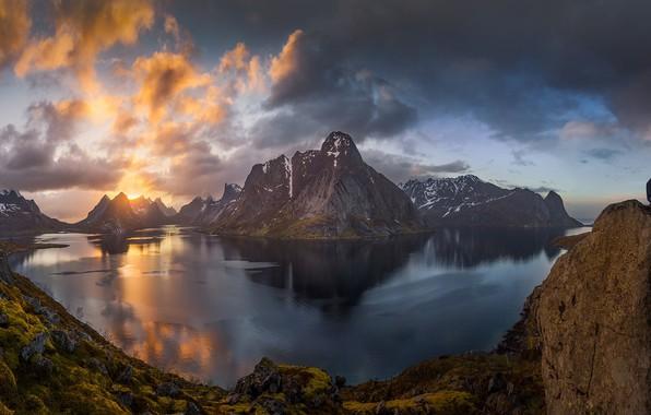 Картинка небо, вода, горы