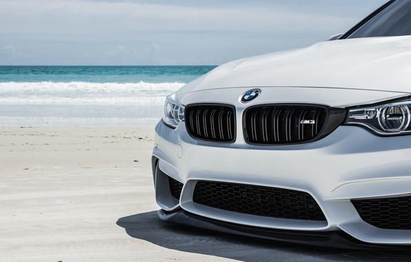 Картинка BMW, Water, White, Wave, F80, Sight