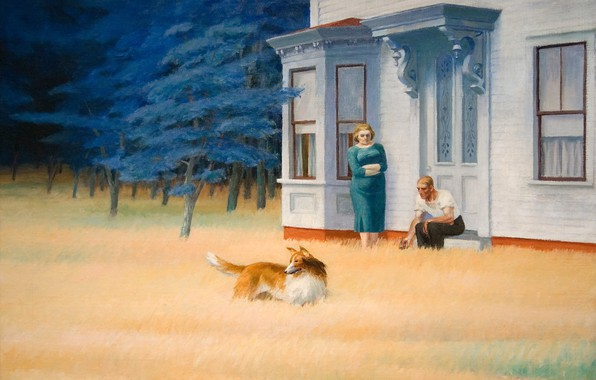 Картинка 1939, Edward Hopper, Cape Cod Evening