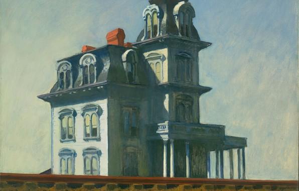 Картинка Эдвард Хоппер, 1925, House by the Railroad