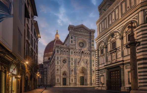 Картинка улица, здания, Италия, Флоренция