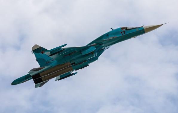 Картинка истребитель-бомбардировщик, Су-34, многофункциональный, ВКС России